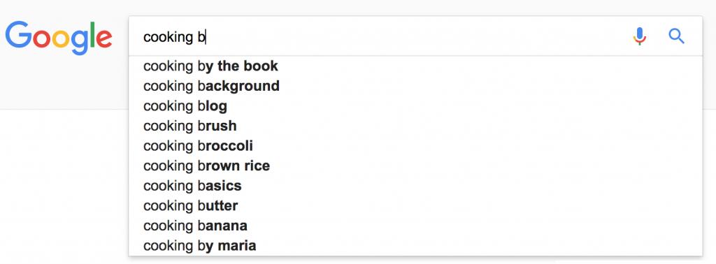 google autocomplete