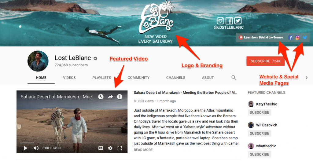 Optimizing your channel can help to increase YouTube views