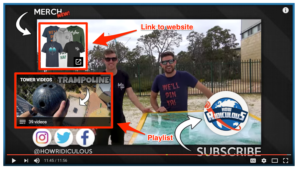 You can add playlists to end screens, which helps to increase your other content's YouTube views