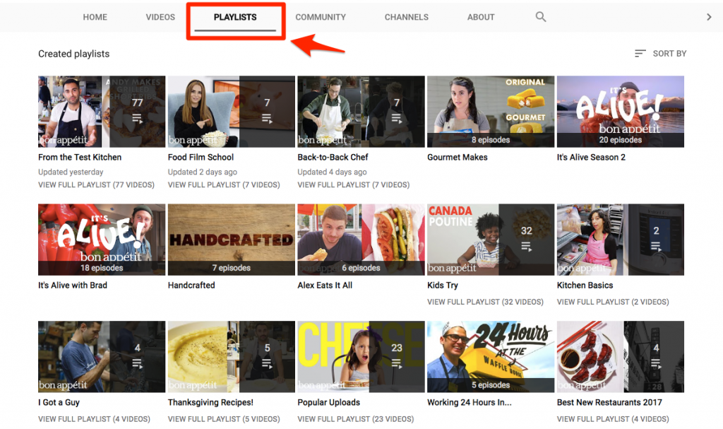 Playlists can be shared and embedded, which gives more potential to increase YouTube views
