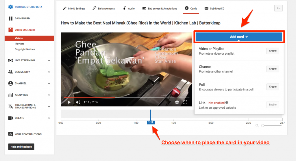 YouTube cards can give exposure to your other content, which helps to increase its YouTube views