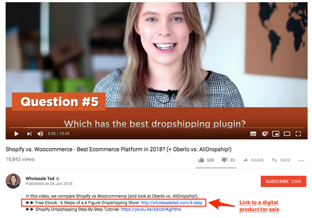 Selling digital products is a profitable way of turning YouTube views to money