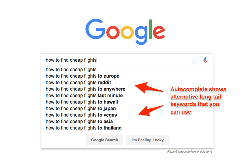 Google Auto-Suggest Long-Tail Keywords