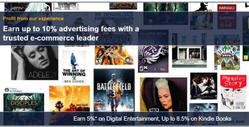 Amazon Associates homepage for Amazon affiliates