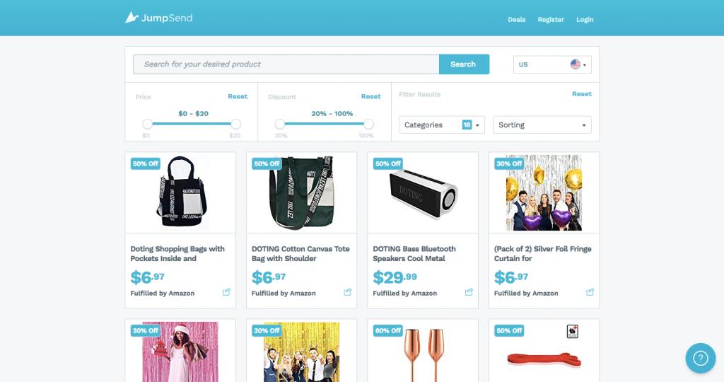Launch Amazon FBA store on JumpSend